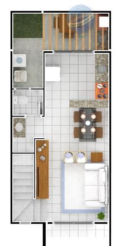 casa duplex com 2 quartos em nova parnamirim, a poucos minutos de ponta negra - porto boulevard ii - ca0006