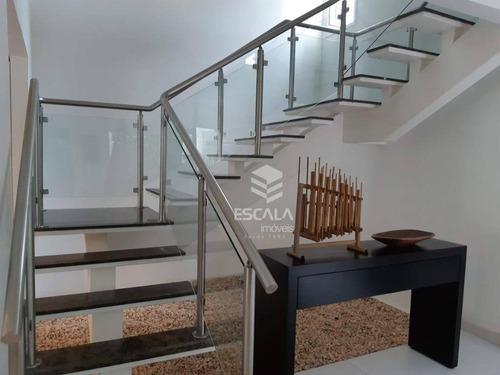 casa duplex com 3 quartos à venda, 275 m², alto padrão, 6 vagas, área de lazer - de lourdes - fortaleza/ce - ca0315
