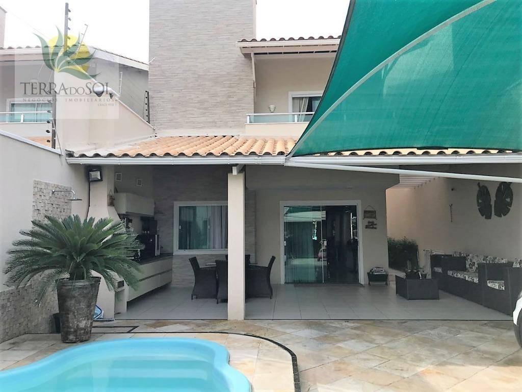 casa duplex com 3 suítes, piscina e 4 vagas. - ca0790