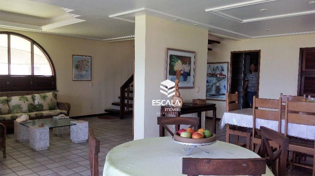 casa duplex com 5 quartos à venda, 300 m², 7 vagas, piscina, terreno grande - praia do japão - aquiraz/ce - ca0198