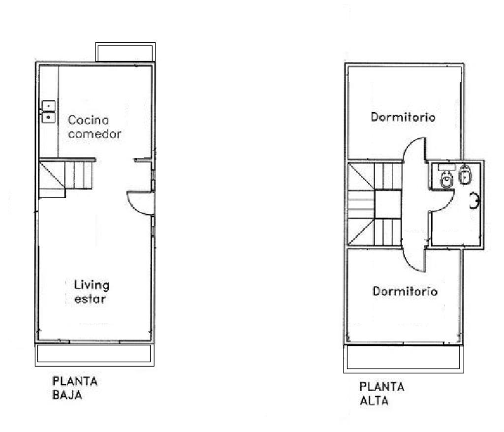 casa dúplex de 2 dormitorios en 132 (61 y 62), la plata
