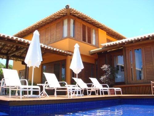 casa duplex em condomínio com 4 suítes 288m² em sauipe - dia055 - 32327639