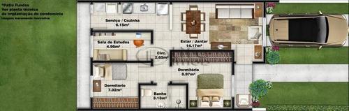 casa em condominio  com 02 dormitório(s) localizado(a) no bairro feitoria em são leopoldo / são leopoldo  - 3566