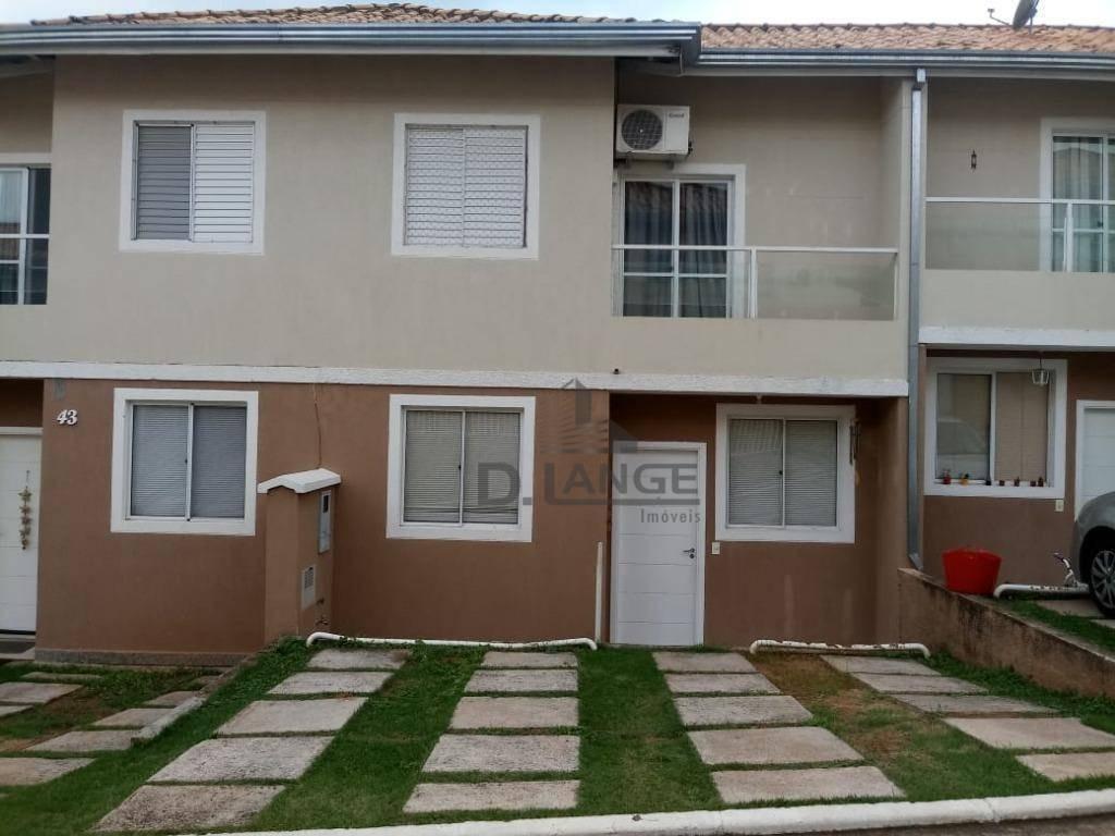 casa em condomínio fechado no jardim santa cândida em campinas / sp. - ca13041