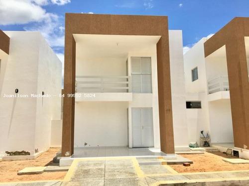 casa em condomínio para venda em açu, meus amores - assú/rn, 3 dormitórios, 1 suíte, 2 banheiros, 2 vagas - cas0732