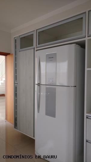 casa em condomínio para venda em bauru, residencial villaggio iii, 3 dormitórios, 3 suítes, 5 banheiros, 2 vagas - 158
