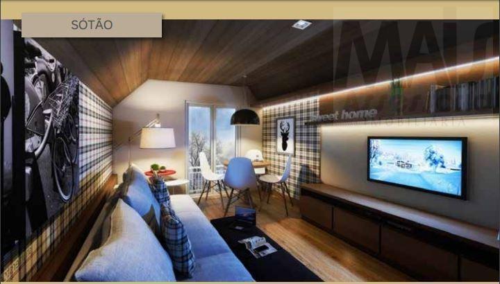 casa em condomínio para venda em canela, centro, 2 dormitórios, 2 banheiros, 1 vaga - cvcf017_2-761727