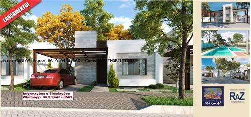 casa em condomínio para venda em teresina, gurupi, 3 dormitórios, 1 suíte, 2 banheiros, 2 vagas - casa jardins de monet