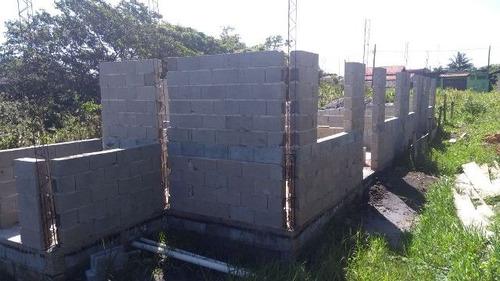 casa em fase de acabamento no jardim palmeiras, em itanhaém