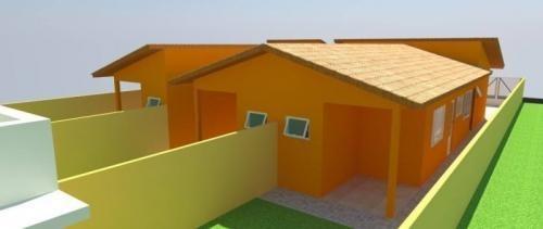 casa em fase de acabamento no litoral