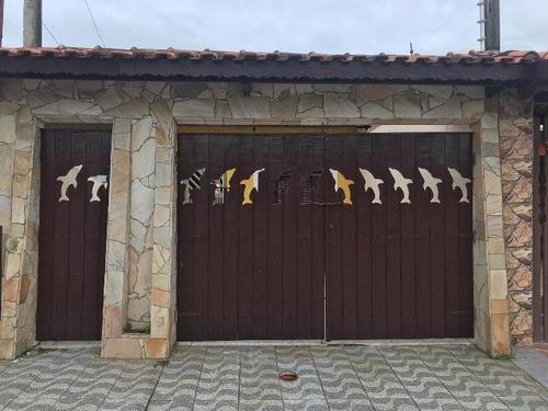 casa em itanhaém ficando lado praia à 300m do mar  ref 3897