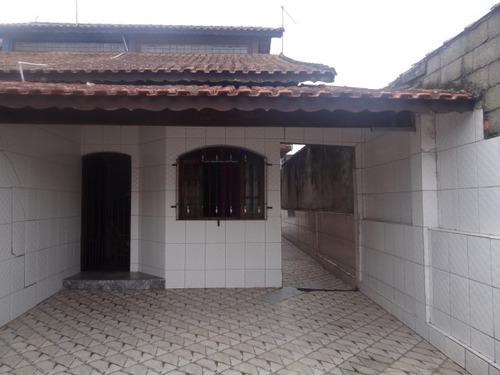 casa  em mongaguá, bem localizada com quintal amplo - n6243