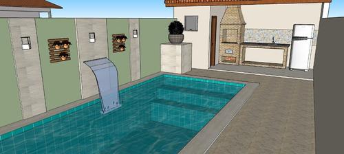 casa em mongaguá com piscina r$ 235 mil ref 6359c