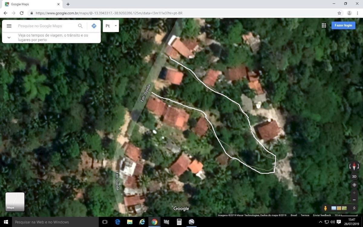casa em morro de sao paulo com 1.600 m de area verde..