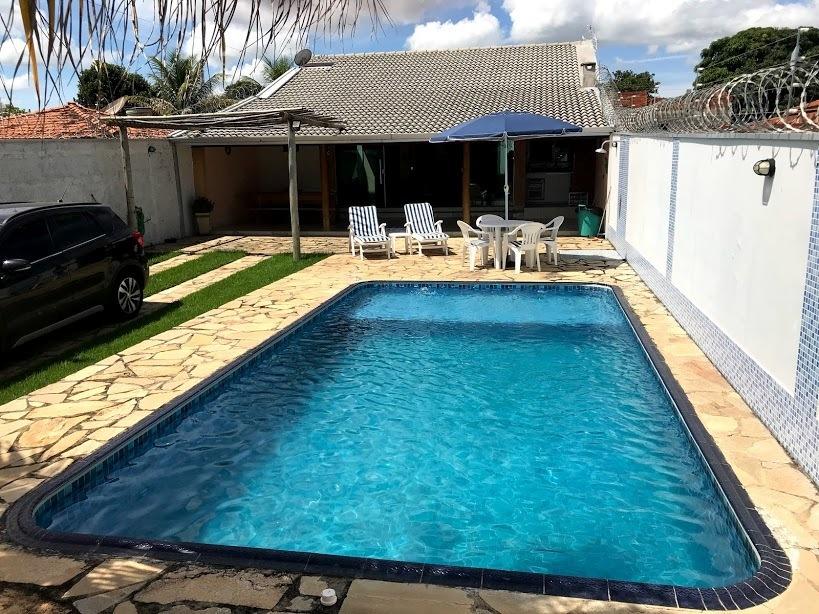 casa em três ranchos, mobiliada, impecável, nova, c/ piscina