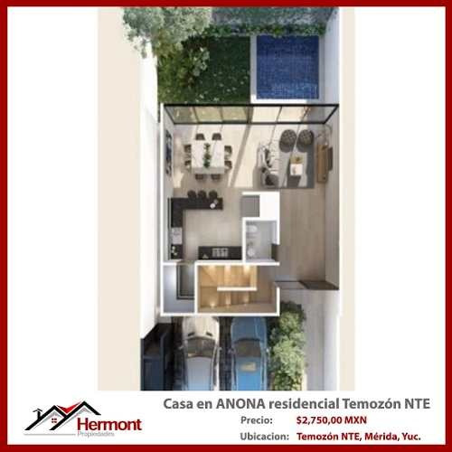 casa en anona zona residencial temozón norte