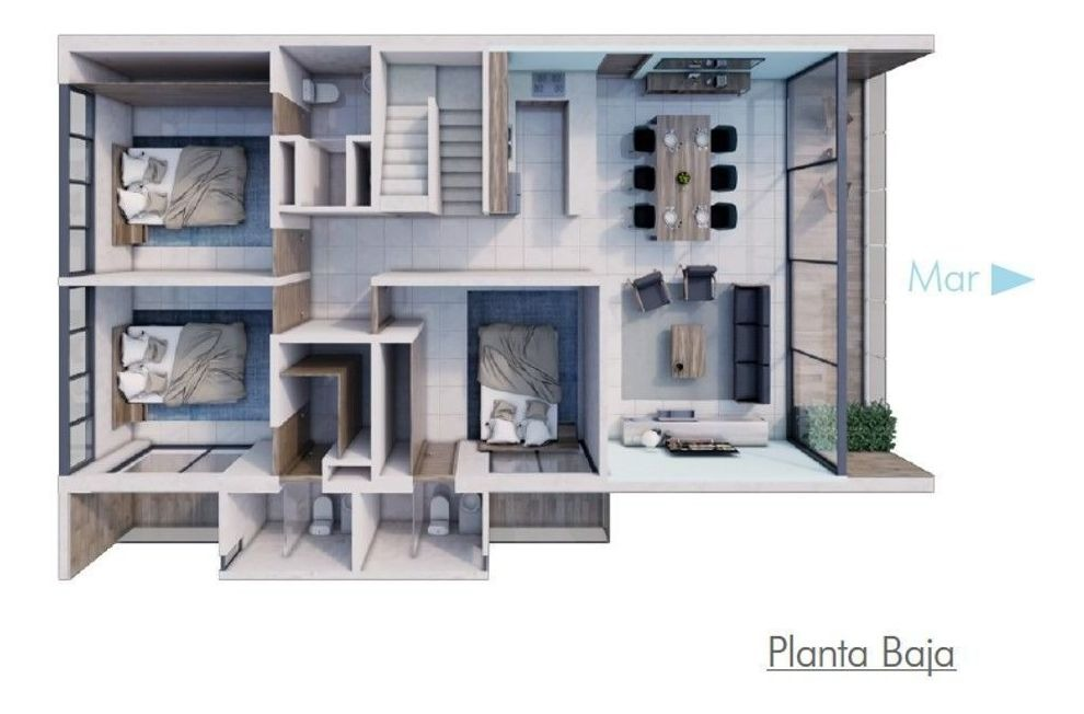 casa en condominio en chicxulub puerto, progreso