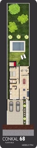 casa en conkal 68 modelo 171m