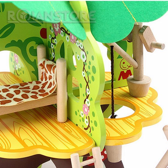 Casa en el arbol juguete did ctico de madera para ni os - Casas en arboles para ninos ...