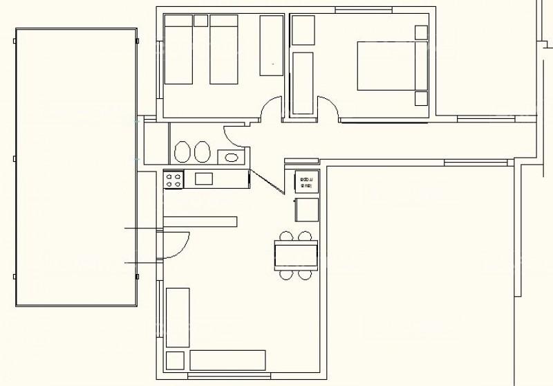 casa en el tesoro, 2 dormitorios *-ref:25756