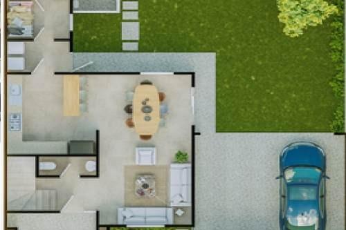 casa en la vista residencial