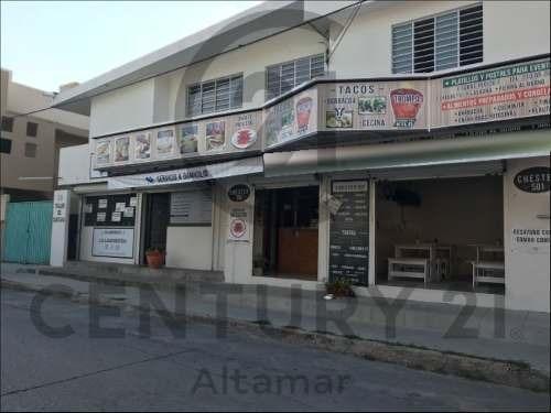 casa en p.a. con locales comerciales en venta, col. monteverde, cd. madero, tamps.