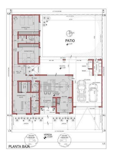 casa en planta baja de 3 dormitorios