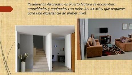 casa en renta amueblada en puerta natura