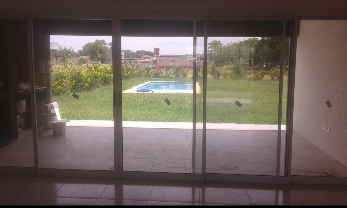 casa en santa juana de canning! con piscina y fondo libre!!!