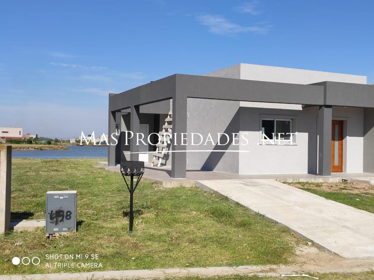 casa en venta 170m2 en horizontes al sur canning fondo a la laguna