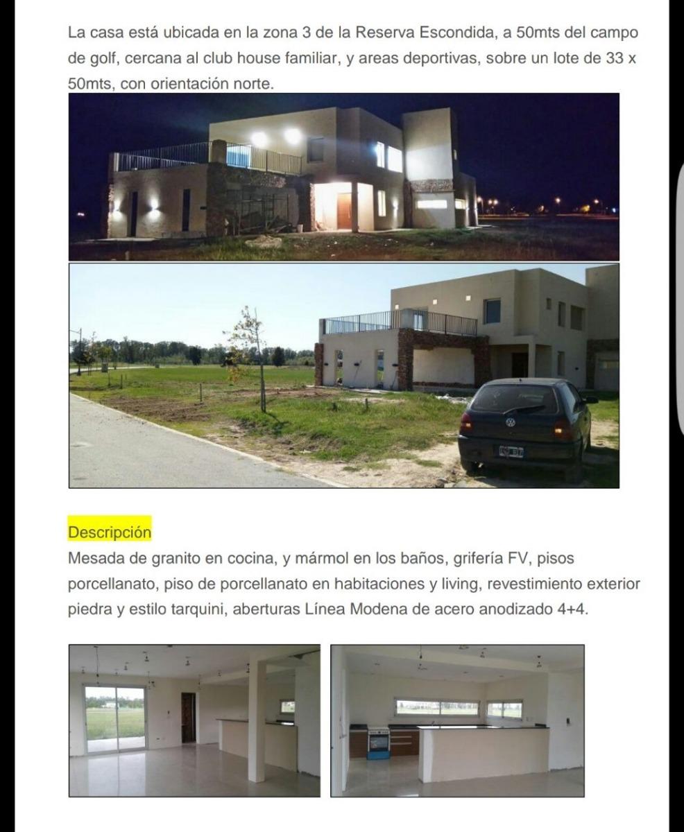 casa en venta a estrenar en area 60 country brandsen