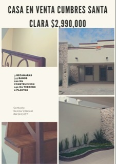 casa en venta cumbres santa clara 1 sector