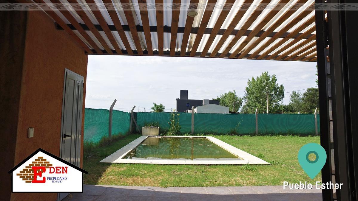 casa en venta de 2 dormitorios con galería y piscina en pueblo esther