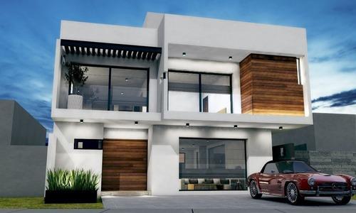 casa en venta de 4 hab. + roof garden en lomas de juriquilla