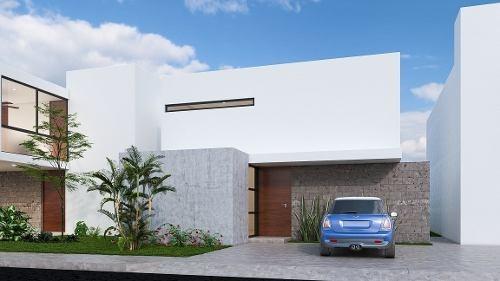 casa en venta de una planta en conkal, zona norte. cv-5803