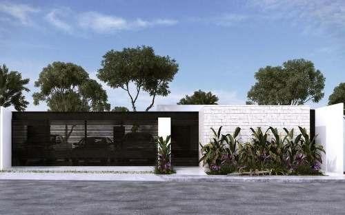 casa en venta de una planta en dzitya