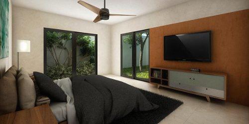 casa en venta de una planta en privada, conkal. cv-5398