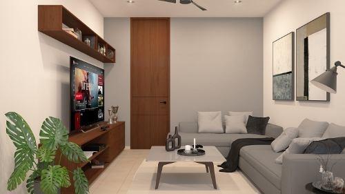 casa en venta de una planta en privada, temozon nte. cv-6032