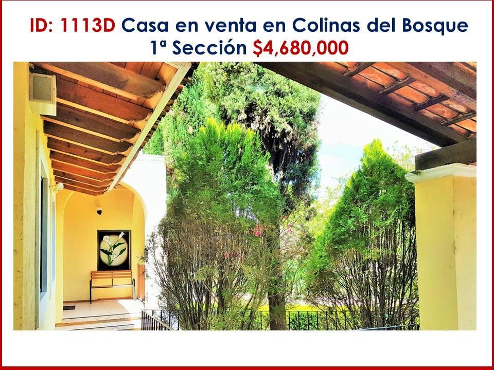 casa en venta en colinas del bosque 1a sección $4,680,000