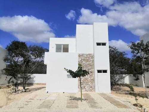 casa en venta en conkal lista para entrega cv-6106