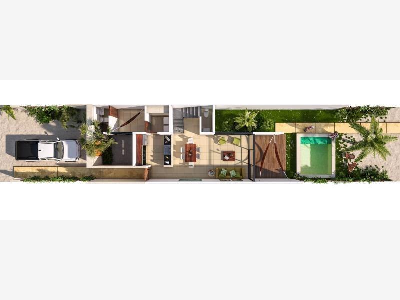 casa en venta en diez.cinco townhouse, chixculub puerto