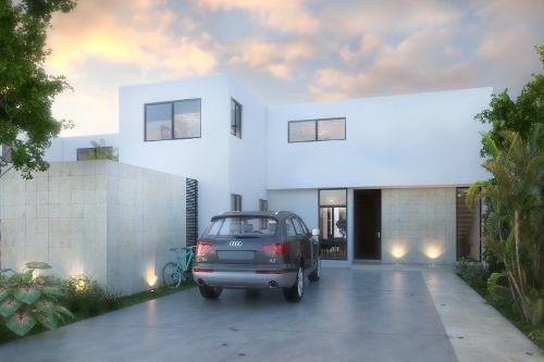 casa en venta en dzitya, a minutos de the harbor. cv-6100