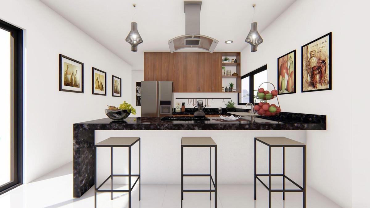 casa en venta en merida, ebano conkal, es de un piso