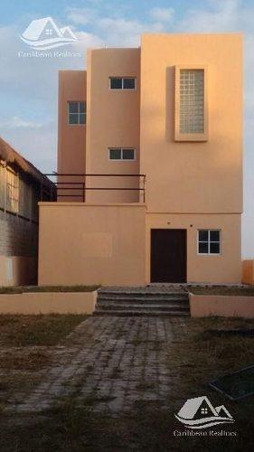 casa en venta en puerto morelos / riviera maya