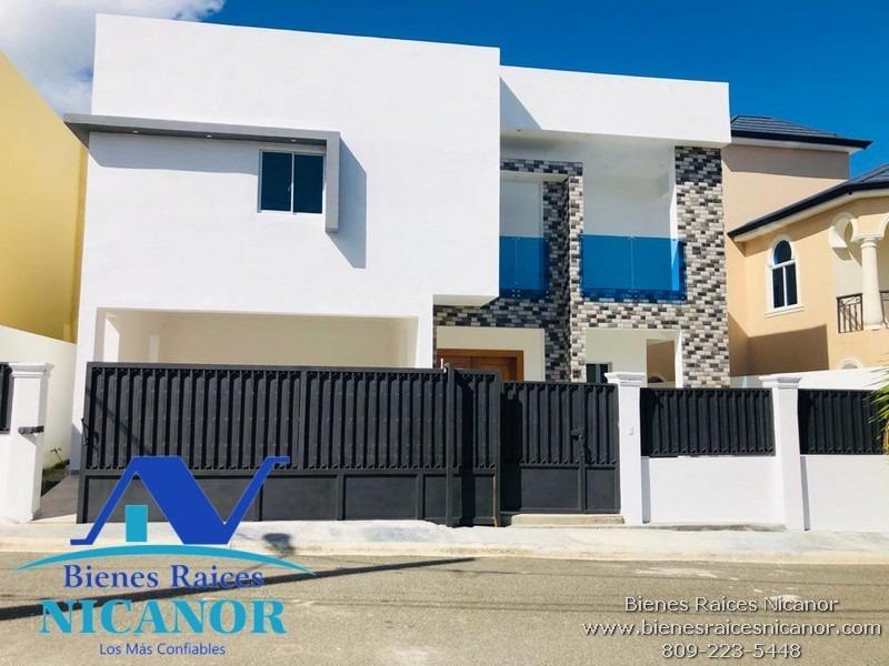 casa en venta en puerto plata, vende bienes raíces nicanor