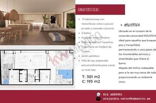 casa en venta en tulum, de lujo preparada estructuralmente para crecer un nivel más.