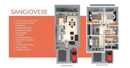 casa en venta modelo sangiovese