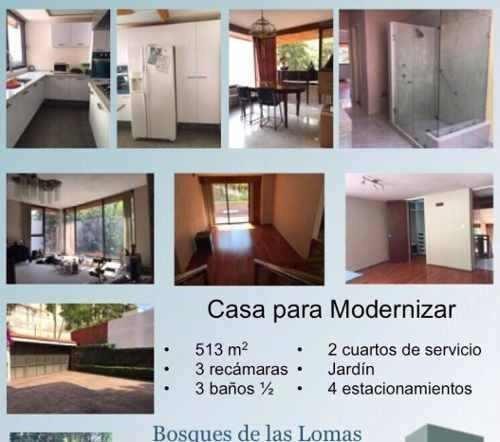 casa en venta para modernizar, bosques de las lomas