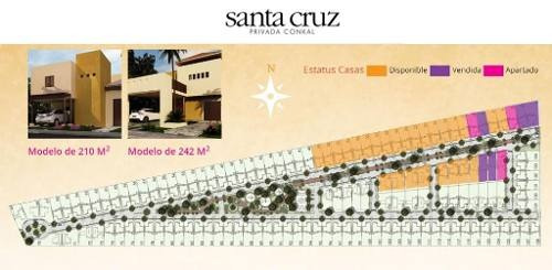 casa en venta, privada santa cruz conkal  mod. 242