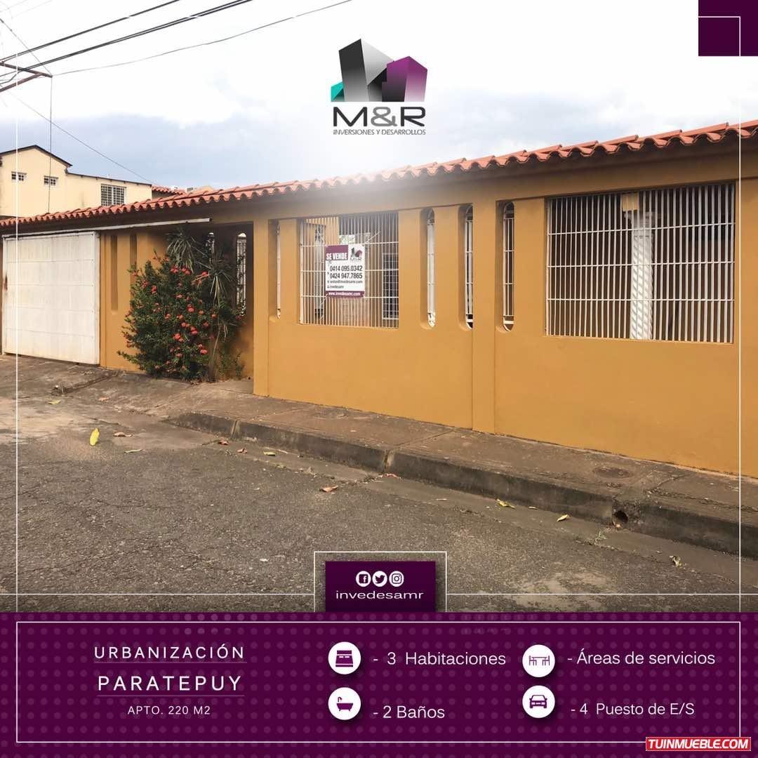 casa en venta puerto ordaz urbanizacion paratepuy m&r- 121